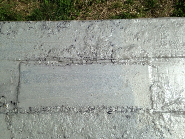 3/13 サビキラー一度塗り後、なじまずに黒点が浮き出た場所確認