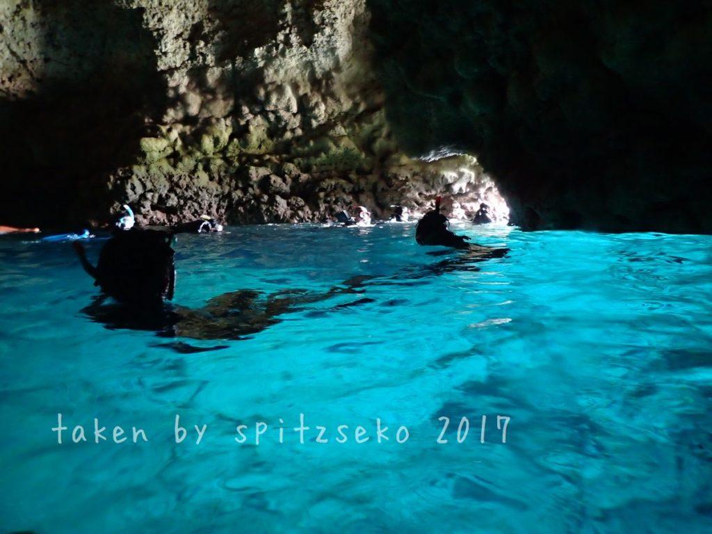 貸切、青の洞窟でした